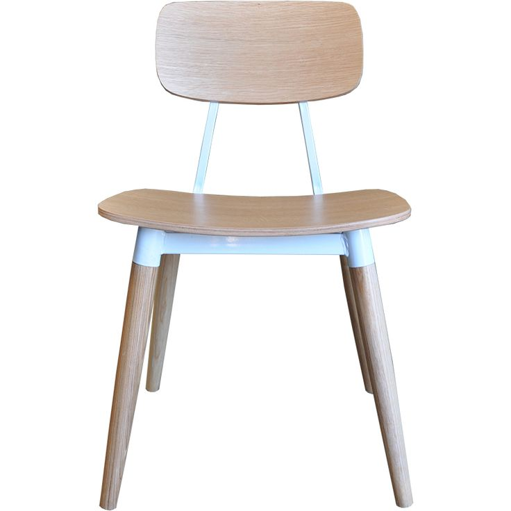 Angie table for cafe & restaurant. An appealing combination of natural wood with a clean white metal frame.