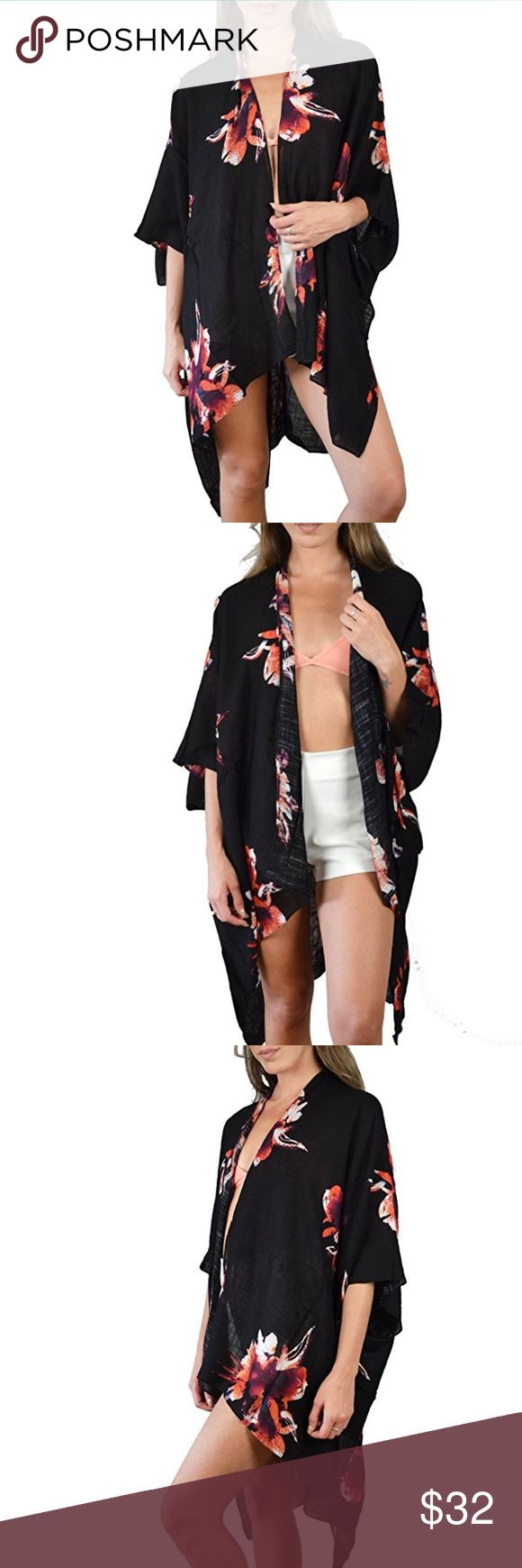 California bohemian kimono Black bohemian kimono Swim Coverups