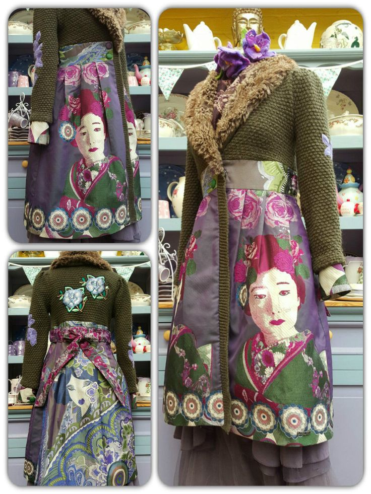 Fabulous Rare Desigual Geisha Tapestry Frock Coat Steampunk Boho Whitby Artisan in Clothes, Shoes & Accessories, Women's Clothing, Coats & Jackets | eBay