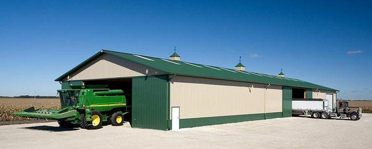 Farm building profile use machine shed pole barn for farm for Pole barn equipment shed