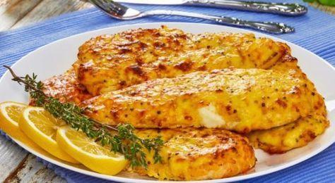 Στήθος κοτόπουλου με μουστάρδα, μέλι και τυρί στο φούρνο