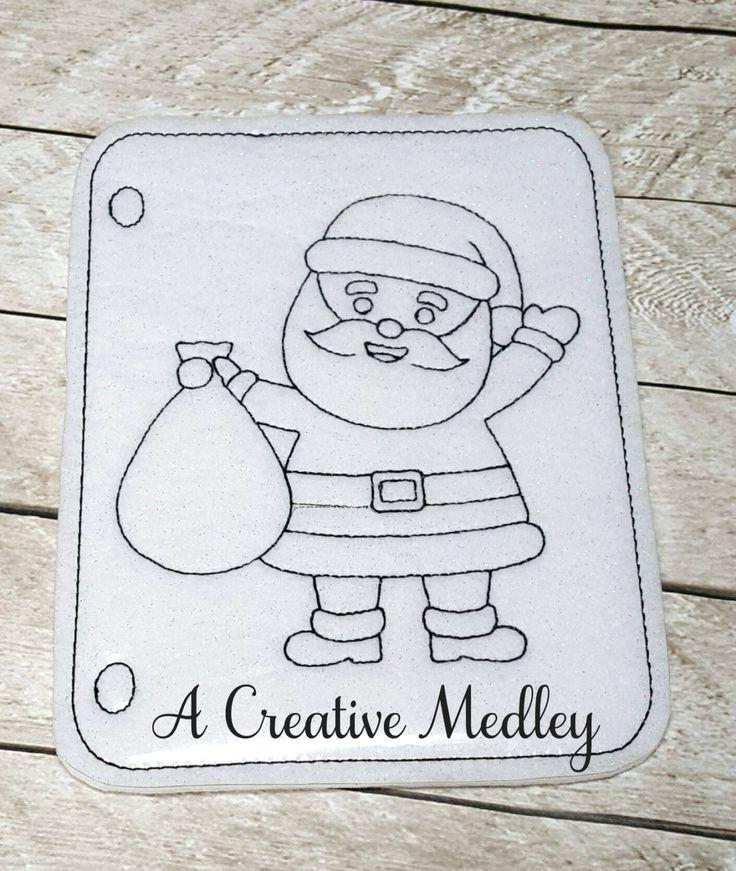 Coloring Page Santa – A Creative Medley