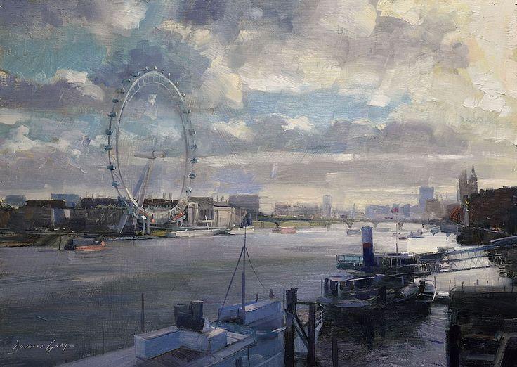 Cityscape Paintings - Douglas Gray | Contemporary English Artist of Figurative…