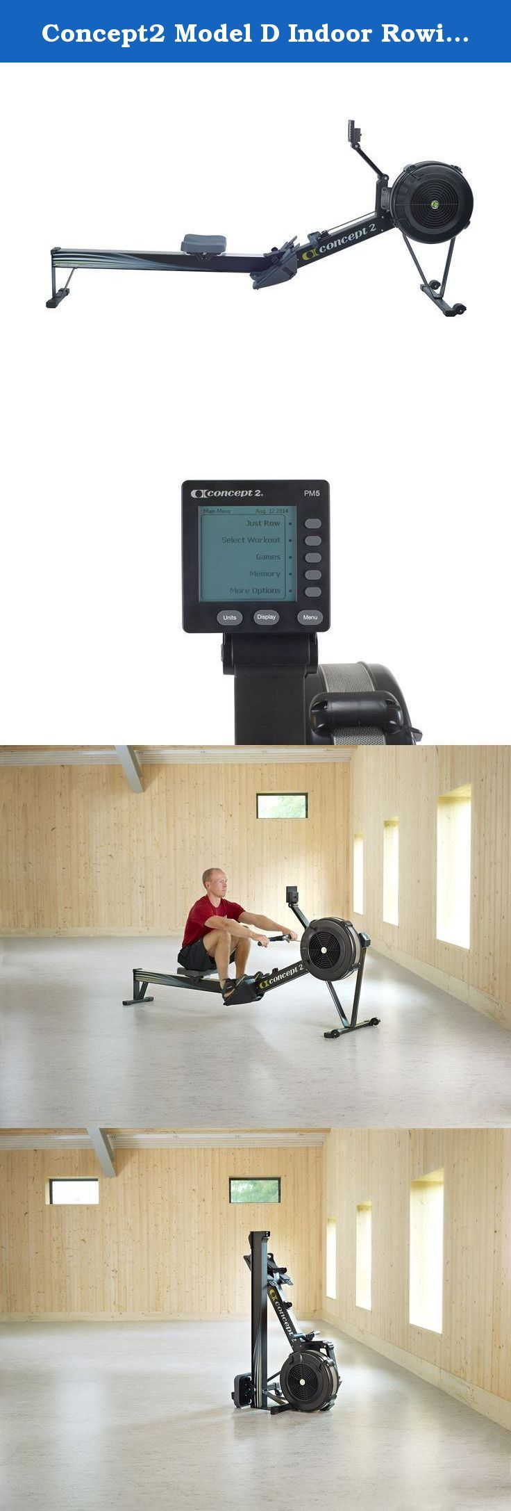 Concept2 Model D Indoor Rowing Machine (Black) with PM5. The dependable performance of our Model D Indoor Rower has made it the bestselling indoor rower in the world. Recognized by competitive rowers as the standard for indoor training, the Model D delivers an effective cardiovascular workout that will increase your fitness level and improve muscle tone. The Model D is efficiently engineered and will last a lifetime. The Model D is the same machine used by Olympic-level athletes to train…
