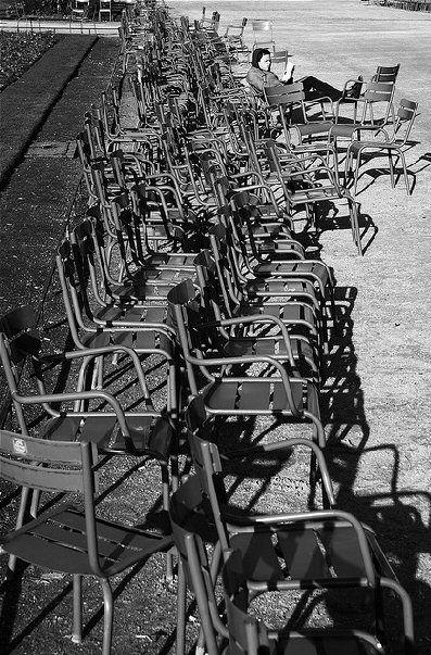Les chaises du Jardin du Luxembourg (Paris 6ème).