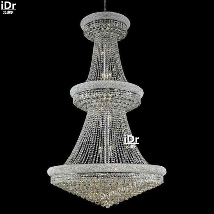 Gold Chandeliers Simple Luxury Hall Corridor Lamp Crystal Lamp Lights  Elegant Hotel Lamp 107cm W X