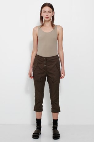 Summer trousers - in black with white belt