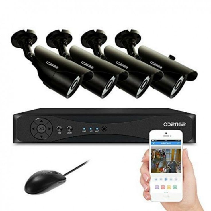 SECURITY CAMERA SYSTEM 8 CHANNEL SANNCE 4 CAM CCTV RECORD ABLE FREE UK DELIVERY