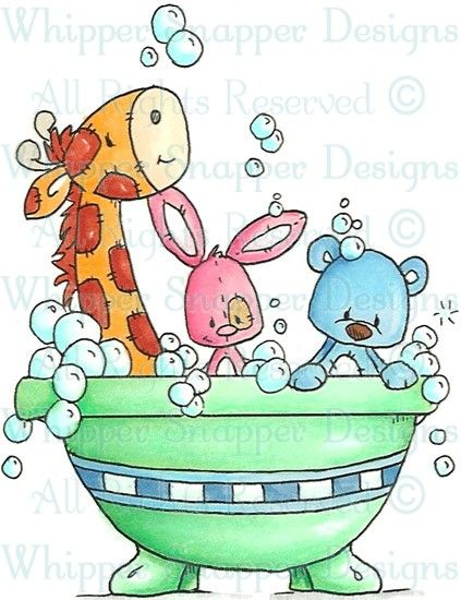 Tub Fun - Zoo - Animals - Rubber Stamps - Shop