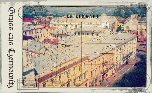 Greetings from Chernivtsi VIII (Postcard Imitated)