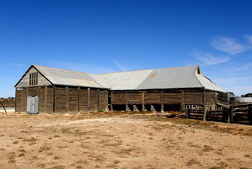 Mungo Shearing Shed (Woolshed) built of local cypress was used when Mungo was a pastoral lease running sheep. National Parks have restored the building and invite visitors to explore.