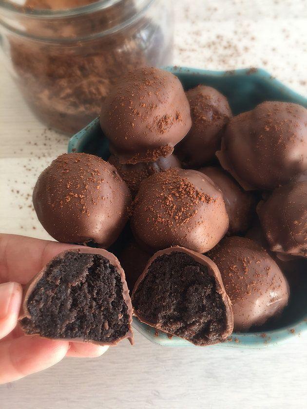 Trufas De Galletas de Chocolate con Menta. Lo máximo estas trufas, ultradeliciosas!