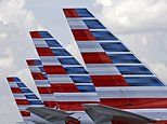 FILE - This July 17, 2015, file photo shows the tails of four American Airlines passenger planes parked at Miami International Airport, in Miami. On Tuesday, March 14, 2017, American said it will offer free meals to everyone in economy on certain cross-country flights starting May 1, 2017. The decision at the world's biggest airline copies Delta Air Lines, which announced a month earlier that it would restore free meals in economy on a dozen long-haul U.S. routes in spring 2017. (AP…