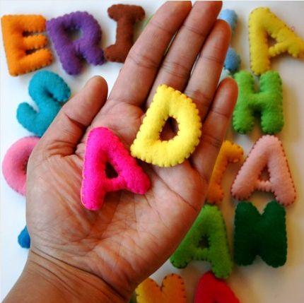 Felt Alphabet letters for the kids
