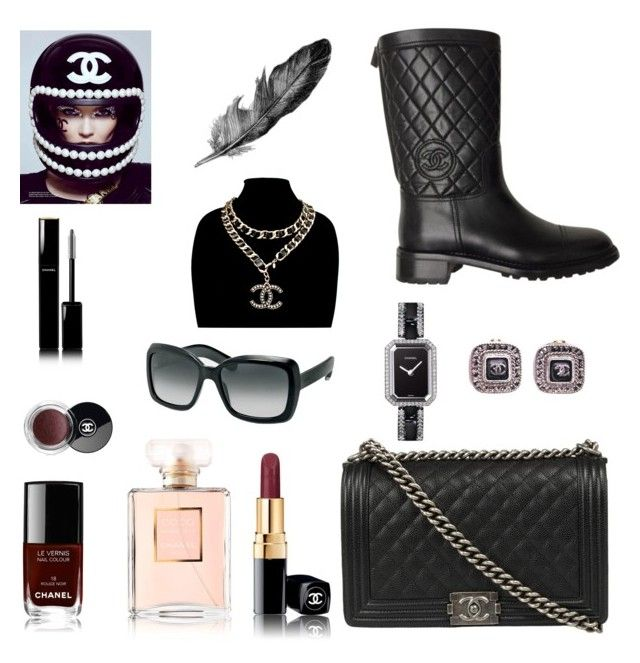 """Untitled #8"" by jonaz-danail-grentzelius on Polyvore featuring Chanel, women's clothing, women's fashion, women, female, woman, misses and juniors"