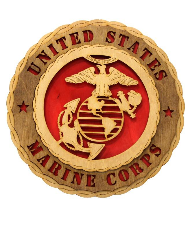 Marine Corps Crest Wall Tribute Wooden