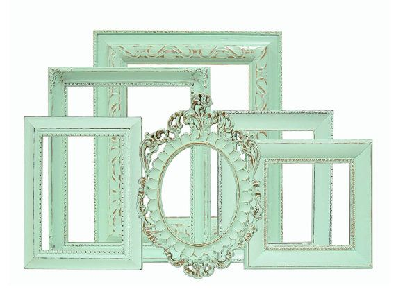 vintage metal oval picture frame pair iron art metal matte glass vine leaves shabby chic 8 x 10 photo dd 300 on etsy 6500 pinterest oval picture - Mint Picture Frames