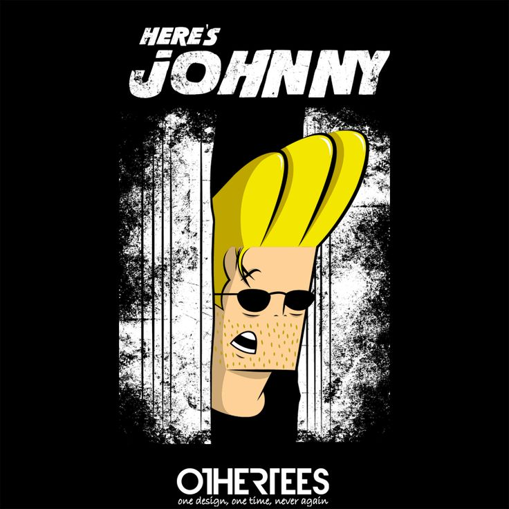"""Here's johnny "" by hoborobo Shirt on sale until 30 May on othertees.com Pin it for a chance at a FREE TEE! #johnnybravo #theshining #kubrick #cartoons"