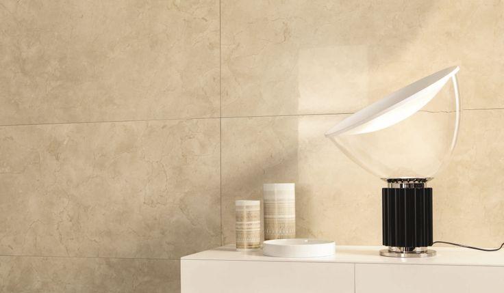 Detail of a graceful #livingroom #marbleeffect #elegant #classic #tile