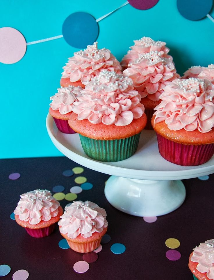 """Pink Champagne Cupcakes Recipe from """"Trophy Cupcakes & Party!"""""""