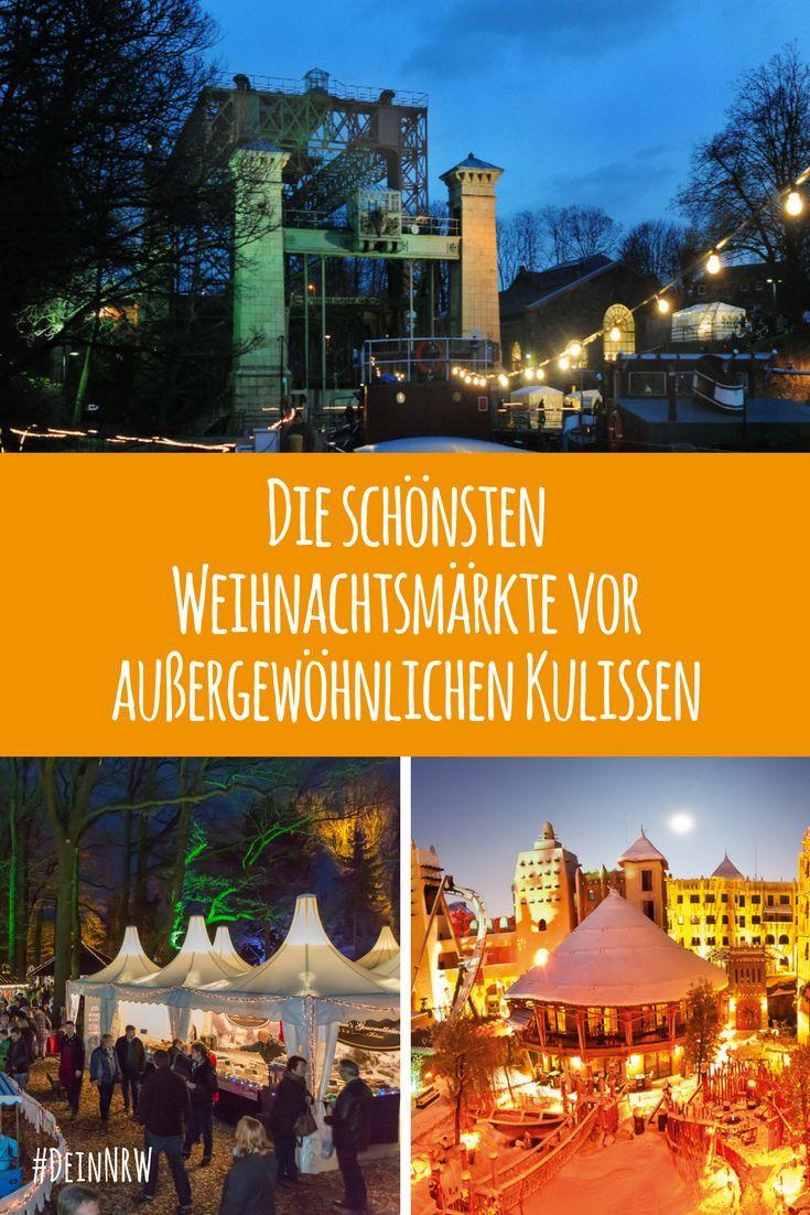 In NRW findest Du zahlreiche Weihnachtsmärkte vor ganz besonderen Kulissen. Wir haben Dir eine Auswahl der Schönsten zusammengestellt. #deinnrw ©️️️ LWL; Phantasialand, Schmidt-Löffelhardt GmbH & Co. KG; Landgut Krumme