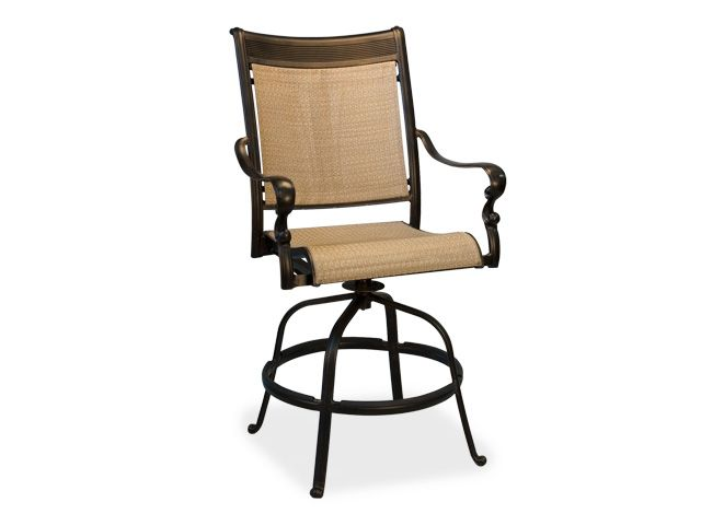 Athena Sling Aluminum Swivel Barstool Black Gold Chair King 399. Gold  ChairsOutdoor ...