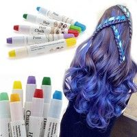 Wish | Hair DIY Dye Colour Kit One-time Cool Hair Chalk Pens Crayon Temporary Pastels Colours