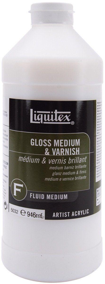 Liquitex Gloss Medium & Varnish - 32oz