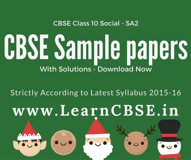 Best Cbse Class  Social Science Sample Papers Images On