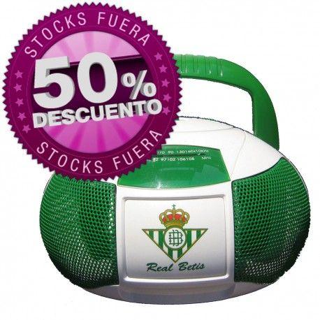 Radio del Real Betis por tan solo 4,98€. Descubre más productos oficiales y #merchandising barato de tu equipo de fútbol.