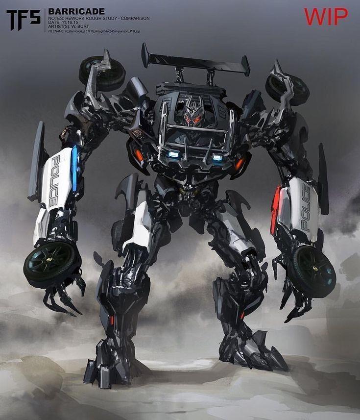 Decepticon Barricade Redesign Concept Art Based On His