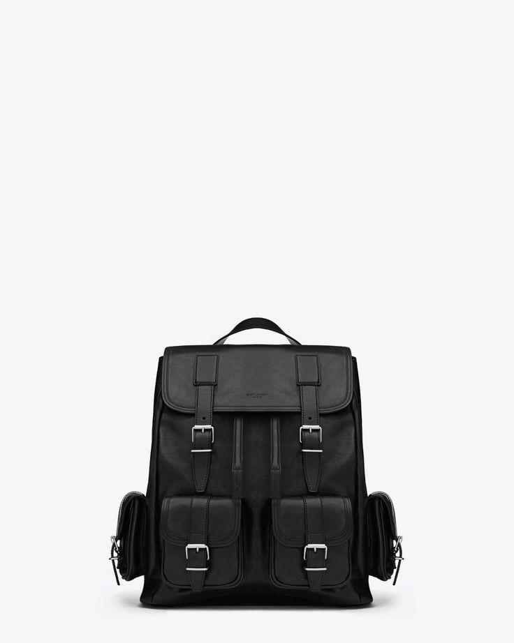 Rock Sac Backpack in Black Leather - Travel \u2013 Bags \u2013 Shop Men ...