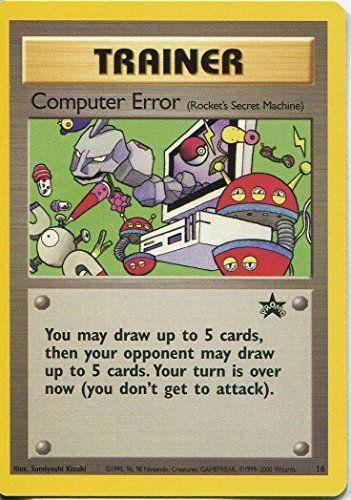 Pokemon Black Star Promo Trading Carte#16 erreur de l'ordinateur: Wizards Of The Coast Promo Trading Card Cartes Pokémon présentée comme et…