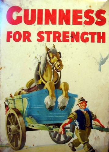 "Guinness, ""For Strength"", 1934; John Gilroy for SH Benson."