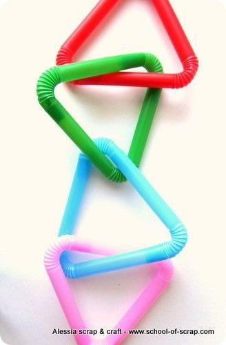 Dal #riciclo delle cannucce in plastica delle simpatiche #decorazioni #lavoretti per bambini tutorial
