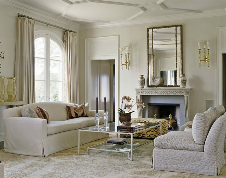 Also Play Of Light Helps Define Character Especially In Monochromatic Area Traditional Living Room By Austin Patterson Disston Architects