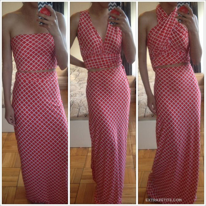 Fold over skirt maxi dress