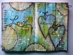 lots of nice journals    @Karen Harris: Crafts Paintings, Media Journals, Journals Inspiration, Paper Doilies, Art Journals, Journals Pages, Mixed Media, Studios 490, Music Books