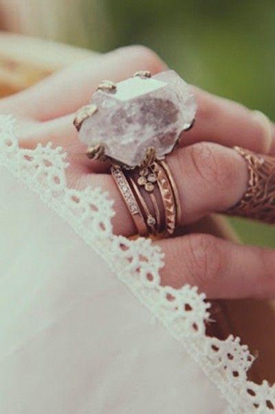 quartz ring, boho jewelry  #jewellery #ring #amazing #quartz