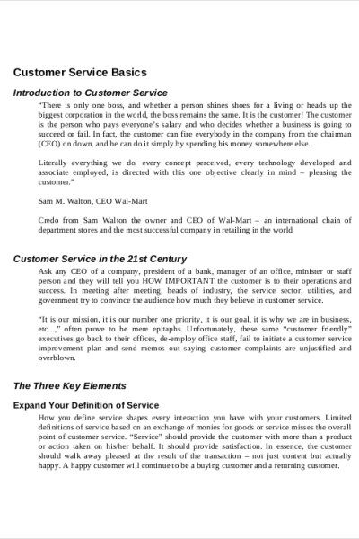 Customer Support Manual Template Manuals Templates, Manual, Best