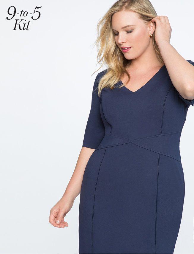 9-to-5 Stretch Work Dress   Women\'s Plus Size Dresses   Plus ...