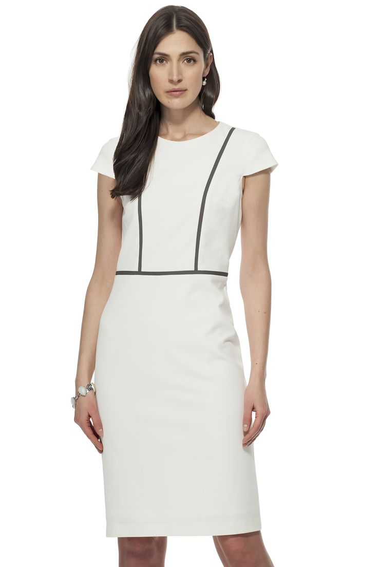 Robe à petites manches & insertions / Cap sleeve dress with insertions  https://www.tristanstyle.com/en/femmes/nouveautes/robe-a-petites-manches-insertions/6/fv090c0929z/ #tristanstyle #ss15