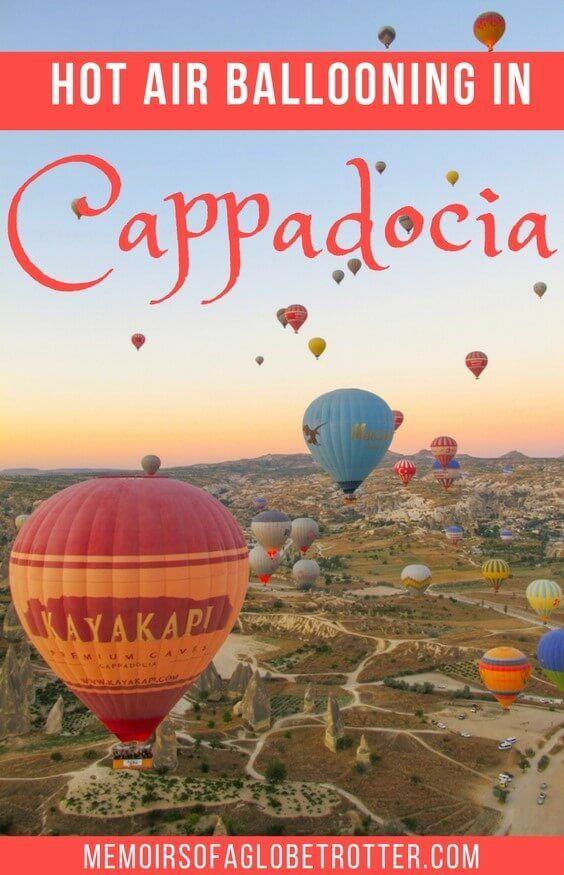 Cappadocia, Turkey is the best place in the world to take a hot air balloon ride!