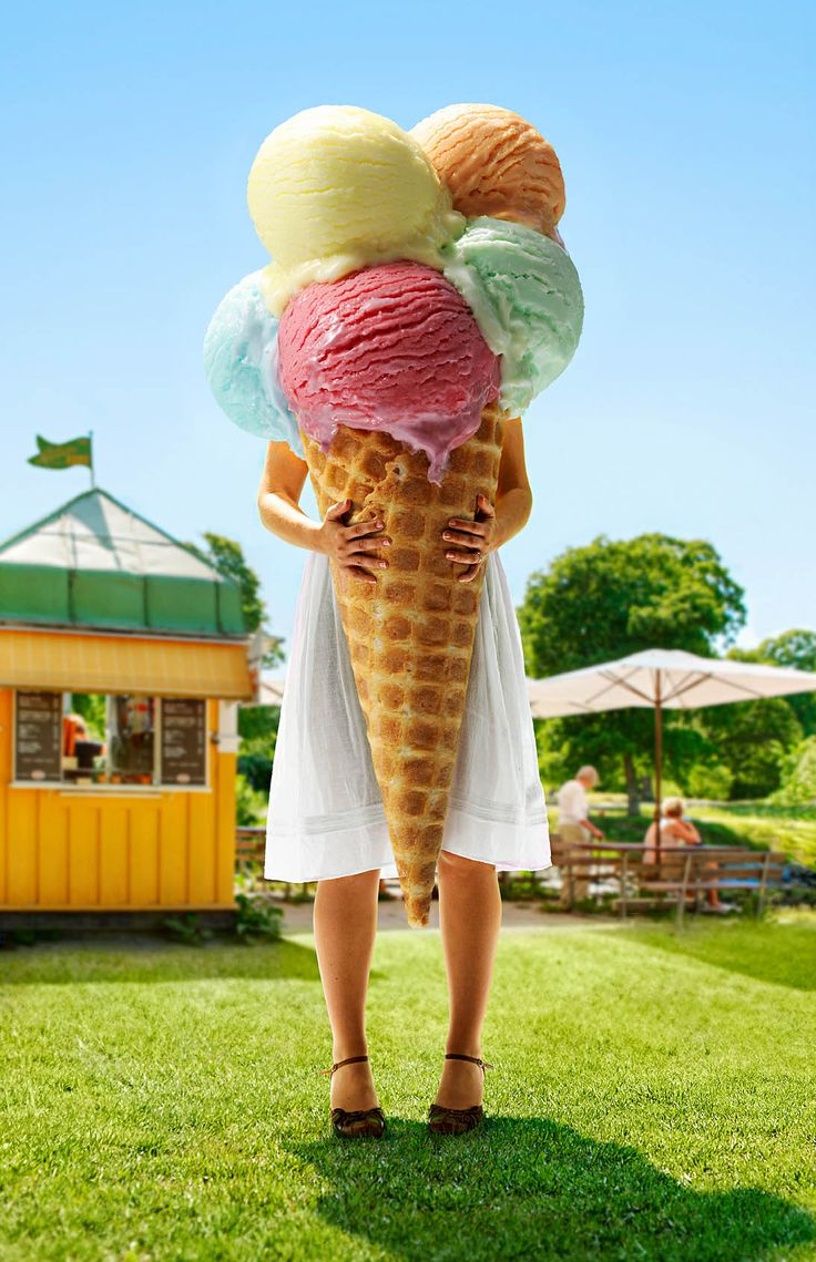 Giant Ice Cream Cone Is A Happy Thing!  | Billie Ekman - Stylists - Agent Bauer