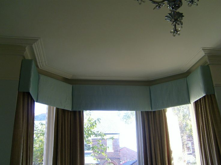 how to make a box pelmet for a bay window