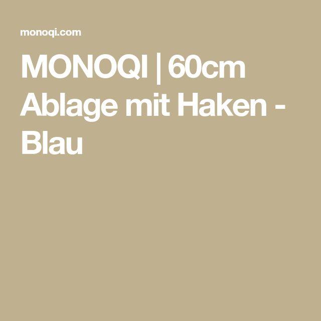 MONOQI | 60cm Ablage mit Haken - Blau