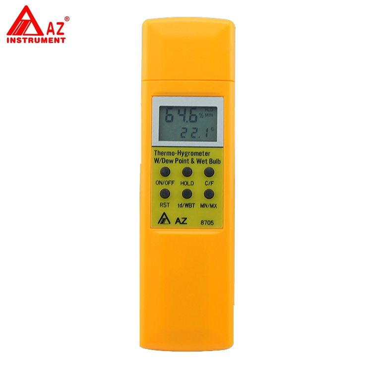 (69.00$)  Know more  - AZ-8705 Handheld Hygro-Thermometer Dew Point Wet Bulb Temperature Meter