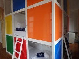 "8 Mix Dorm ""Rubik Cube"" Design Hostel"