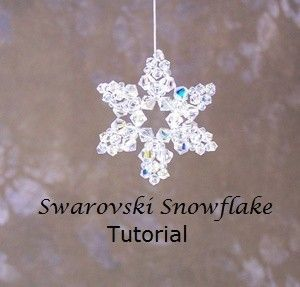 PDF Tutorial - Swarovski Snowflake / Ornament / Pendant INSTANT DOWNLOAD  Original copyrighted design by Northwest Bead & Gift Co. (nwbead)  If you like sparkle, youll love this beautiful snowflake design. Easy beginner project. So pretty and fun to make, you wont be able to stop at just one. Snowflake measures 1 1/4 diameter Includes complete instructions with full-color photographs.  If you prefer to work from a kit, you can view and purchase our kit here…