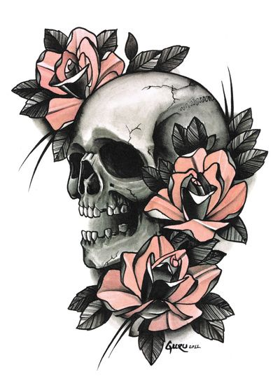 Death - tattoo Art Print